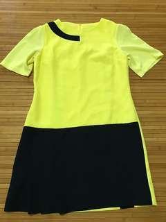 🚚 Black & Yellow dress