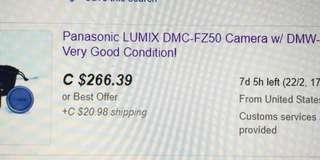 Panasonic Lumix DMC-FZ50 in great condition