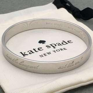 Kate Spade New York Sample Bangle 銀色字母手鈪 直徑6.5 cm BA015
