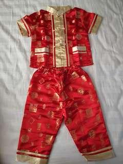 Chinese costume for 2-3 months baby