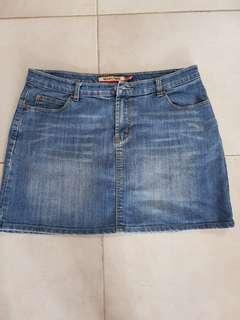🚚 New Future Blue Denim Skirt