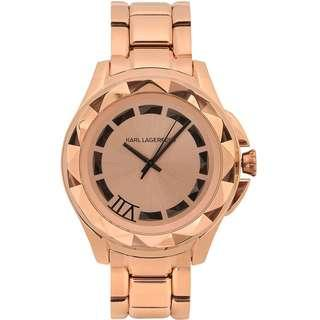 Karl Lagerfeld 42mm Rose Gold Bracelet Watch with Original Box  (Karl 7 KL1032)