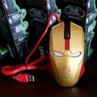 CNY Sales!! Ironman Optical Wired Mouse for Computer Laptop Avengers