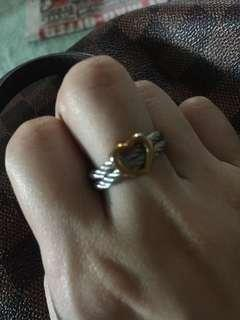 Inspired charriol heart ring
