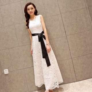 🚚 [PREORDER] Lace/ Crochet Maxi Dress