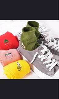 🚚 [po] ulzzang Fruit socks