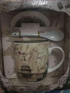 Paris Mug with Lid & Spoon #Mfeb20