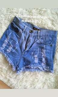 Instock High waisted denim shorts pants