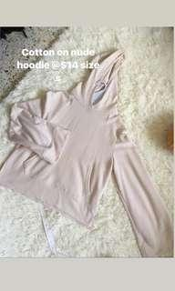 Instock cotton on hoodie sweater nude