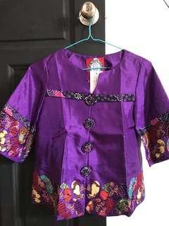 Blouse (combination batik & taffeta)