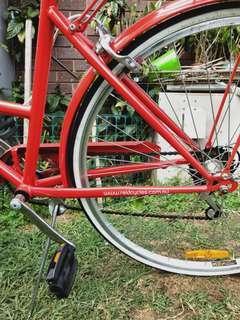 Red reid bicycle