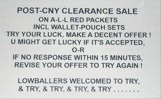 Red Packet Clearance Sale