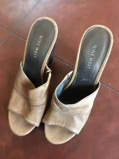 Nine west slip on heels