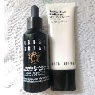 [90% New] Bobbi Brown 蟲草修護精華粉底液 + 亮肌防曬妝前底霜套裝