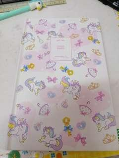 Unicorn planner and diary