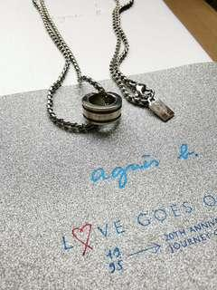 agnes b 項鍊戒指,真品,附紙袋和精美禮盒