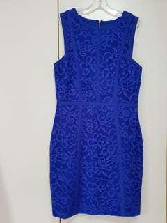 Forever New Blue Lace Dress