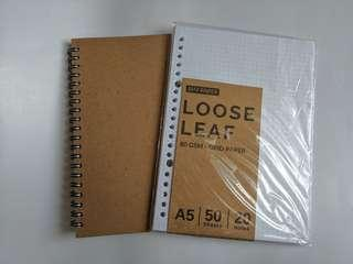 NOTEBOOK + LOOSE LEAF PAPER [TAKE ALL]