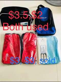 Various Brand New and Used Shoe Bags Red Shoe Bag Black ShoeBag