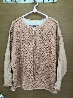 全新, 無著過, 韓國牌子numero uno粉紅色外套, 胸大約46吋, 肚大約42吋, 衫長大約23吋, 綿料, 韓國制