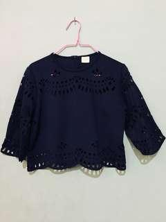 Semi crop NAVY