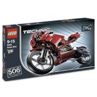 【LEGO   二手 齊件 齊說明書   樂高】8420_Street Bike_2005年_絕版