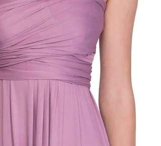 INFINITY GOWN MAUVE COLOR
