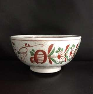 "🆕 7"" Japanese Suribachi mortar bowl with floral design"