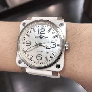 Bell & Ross 03-92 White Ceramic (Mother of Pearl Dial)