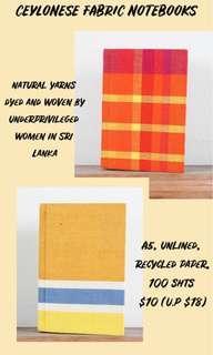 🚚 Ceylonese Fabric Notebooks