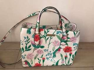 Kate Spade Laurel Way Hummingbird Floral Evangeline Bag