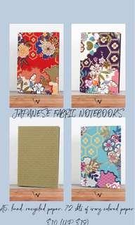 🚚 Japanese Fabric Notebooks
