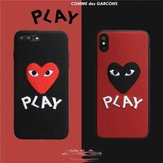 iPhone case手機殼 - 磨沙刺繡軟殼
