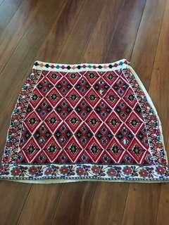 Festival Colourful Mini Skirt