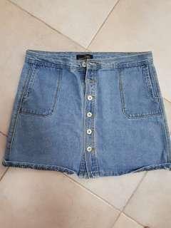 🚚 Suzanne Retro blue denim skirt