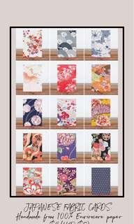 🚚 Japanese Fabric Cards