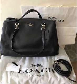 Coach crossgrain leather bag