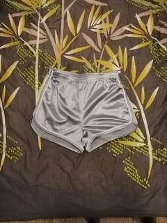 Silver sport shorts