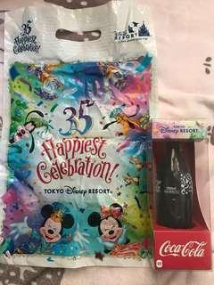東京廸士尼海洋35週年x Coca-Cola 可口可樂(連廸士尼35週年袋)