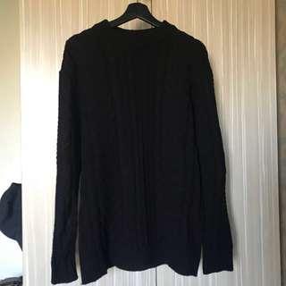 🚚 韓風黑色針織毛衣