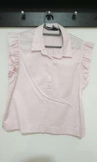 Ruffles top in light pink