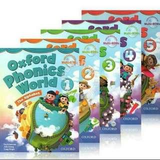 10 pcs x Oxford Phonics World Book Set Brand New
