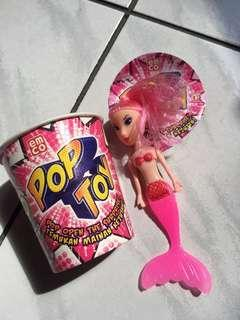 Pop toy: Pink mermaid