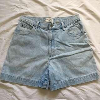 Light Denim Mom Highwaist/Highwaisted Shorts