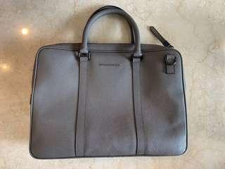 Burberry London Leather Crossbody Briefcase
