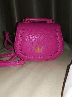 Darker Pink Crown Sling Bag