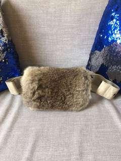 Rabbit Fur Bum Bag