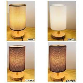 Bed Side Night Light Table Reading Lamp White Coffee Khaki