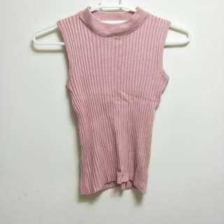 🚚 粉色無袖上衣