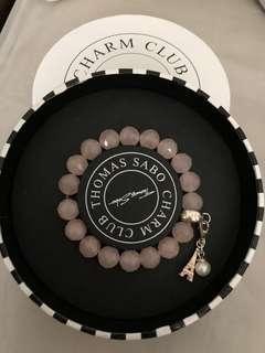 Thomas Sabo bracelet 粉晶連一個charm